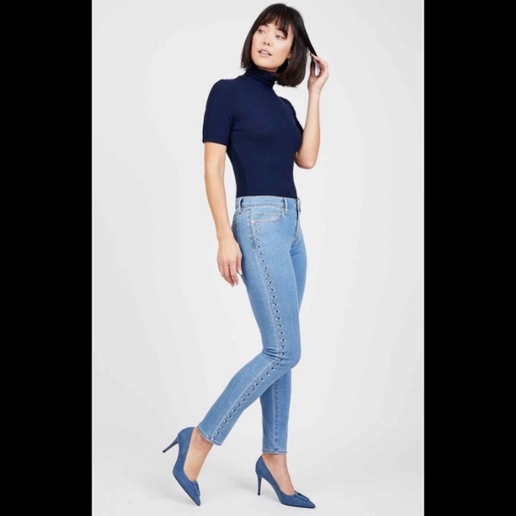 Juicy Couture Denim - Juicy Couture Mid Rise Embellished Skinny Jean